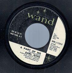 EARL KING (Johnson) TIC TAC TOE~Wand WND-11230 Funk Soul Blues 45 Record~Promo