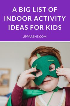 Over 80 Fun Indoor Activities for Kids Looking for things to do with kids when you're stuck inside? We gathered creative ideas from parents into this big list of fun indoor activities for kids at home. Indoor Activities For Kids, Preschool Activities, Games For Kids, Creative Activities, Educational Activities, Educational Websites, Creative Play, Toddler Learning, Toddler Fun