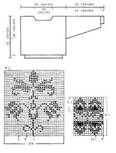 DROPS 25-7 - DROPS marine bluse i Muskat Soft med Porcelænsblomster - Free pattern by DROPS Design