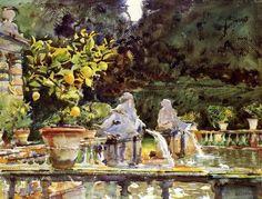 John Singer Sargent - Villa di Marlia Fountain.
