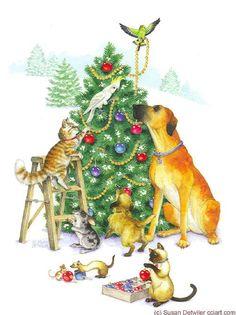 http://www.cciart.com/christmascatsanddogs.html