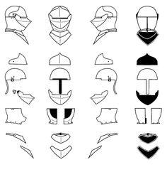 Italian armet anatomy