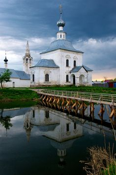 Evening storm clouds, Suzdal, Russia