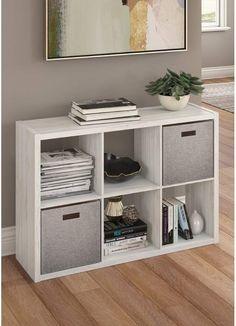 ClosetMaid 4582 Decorative Open Back Storage Organizer, Black Small Bookshelf, Cube Bookcase, Cube Shelves, Cube Storage, Bookshelf Storage, Cubes, 6 Cube Organizer, Fabric Storage Bins, Cube Design