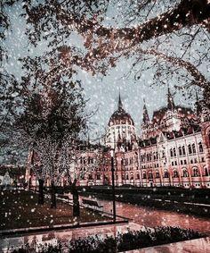 budapest, snow, and light εικόνα