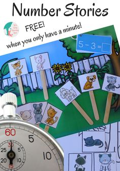 Tell each other unlimited number stories and get those math brains working! Teaching Numbers, Math Numbers, Teaching Math, Maths, Kindergarten Freebies, Numbers Kindergarten, Montessori Math, Homeschool Math, Math Resources