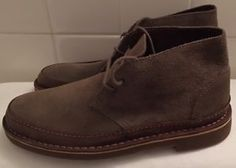 MEN'S Clarks Bushacre Rand Chukka Desert Boots Suede Size 7 5 Taupe Brown NEW | eBay