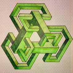 Impossible on Behance Escher Art, Mc Escher, Acid Trip Art, Impossible Shapes, Geometric Shapes Art, Isometric Drawing, Graph Paper Art, Geometry Art, Sacred Geometry