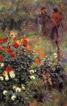 The Garden in the Rue Cortot, Montmartre by Pierre-Auguste Renoir