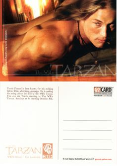 Rare promotional postcard featuring Travis Fimmel for WB's Tarzan.