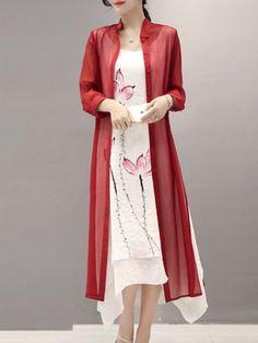 Shop Midi Dresses - Elegant Two Piece 3/4 Sleeve Midi Dress online. Discover unique designers fashion at StyleWe.com.