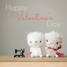 Happy Valentine's Day from the Fluff Bears, Coco & Mochi!