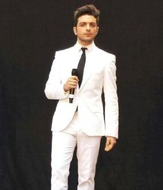 Beautiful Gianluca Ginoble! Looking especially good in a white suit ❤ IL VOLO Place NO WATERMARK on this photo.
