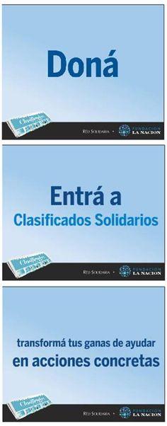Clasificados solidarios, un nuevo 'servicio' digital del diario LA NACION #Argentinta
