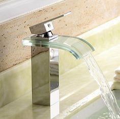 Single Handle Chrome Waterfall Bathroom Sink Tap T0822 http://www.tapforyou.co.uk/bathroom-sink-taps/basin-taps/single-handle-chrome-waterfall-bathroom-sink-tap-t0822