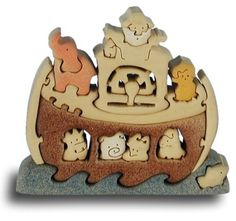 Noah's Ark - Handcrafted Wooden Puzzle
