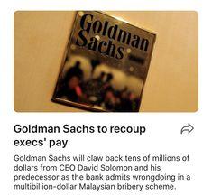 Goldman Sachs to recoup execs' pay | LinkedIn