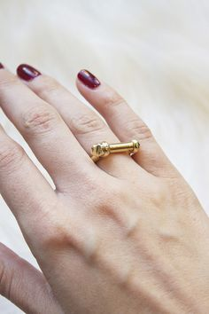 The Screw Cuff Ring takes classic Miansai styling and creates a unique ring shape. Even better, it's functional! www.mooreaseal.com