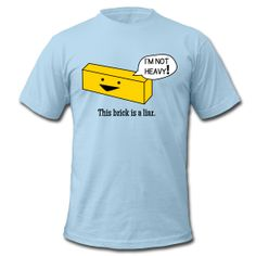 hilarious lifeguard shirt...first day of training we all thought the brick wasn't heavy