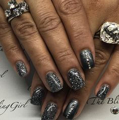 From The Bling Girl nail desk! @bubz_d You rock the Rings! From the Miglio RockStar Collect! Stackable Stairway to Heaven and Roxanne. #yeg #yegnailtech #glittergel #amoregel #gunmetal #blingnails #theblinggirl #migliocanada #swarovskicrystals #gelnails #lovewhatido #rockstar #nailbling #stackablerings #rings #mymigs #roxanne #stairwaytoheaven