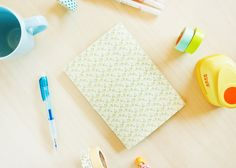 Agenda imprimible y como encuadernar una libreta cosida a mano facilmente