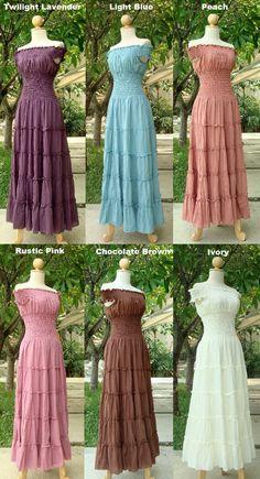 Off White Ivory Maxi Dress - Off The Shoulder Maxi Dress / Long Cotton Dress / Romantic Dress / White Sundress - 'Sweet Summer II'. $57.00, via Etsy.