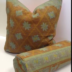 Cornflower Throw Pillow - turquoise flowers on rust background