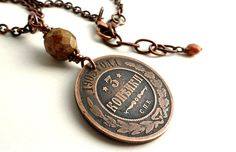 Antique necklace Russian necklace Coin necklace by CoinStories