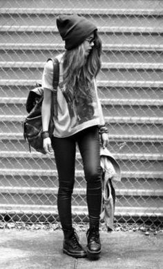 Black and white hipster outfit
