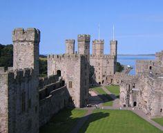 Castelo de Caernafon, Inglaterra.