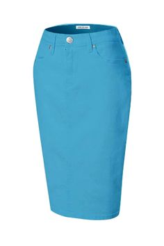 e5492a541be3 Jupe de Abby · Colored Denim Skirts · Add a splash of color to your  wardrobe with our best-selling color skirts!