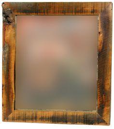 salvaged barn wood frame