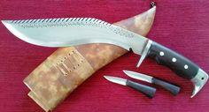Gurkha Khukuri Khukri Kukri American Eagle Head Dragon Spine Full Tang 11 inch
