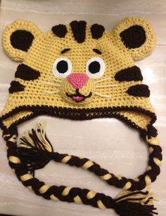 Daniel Tiger crochet hat by Ambercraftstore on Etsy
