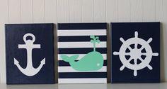 Nautical Nursery Decor Anchor Sailboat Nursery by JoanitaBonita