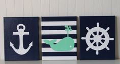 Nautical Nursery Decor Anchor Sailboat Nursery by JoanitaBonita
