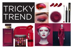 """""""Tricky Trend in Ravishing Red"""" by pillowthrowdecor ❤ liked on Polyvore featuring beauty, MICHAEL Michael Kors, Lime Crime, Smashbox, Ellis Faas, Lancôme, Dolce&Gabbana, Obsessive Compulsive Cosmetics and Shany"""
