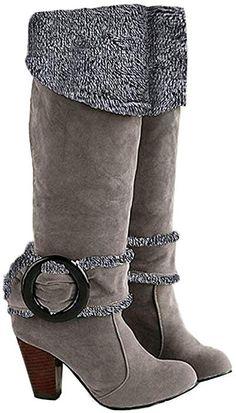 Theshy Bottines Femme Talon Bottes Plates Chaussures Plates pour Femmes Bottes Martain Bottes en Daim zippées à Bout Rond Chaussures de Maintien au