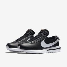 837adf69edcc NEW NIKE LAB ROSHE CORTEZ NM SP BLACK WHITE LEATHER 806952-010 MENS SZ 8.5