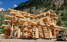 Handcrafted Western Red Cedar Log Home - Colorado USA _ Brian Moore