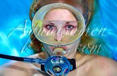 Flooding Her Masks - Underwater !  Pt 1