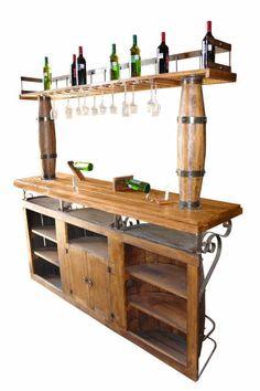 Design beautiful wine bar and cellar- Thiết kế bar rượu, hầm rượu đẹp Design beautiful wine bar and cellar - Wall Shelf With Hooks, Wall Shelves, Woodworking Projects Diy, Woodworking Jigs, Wine Glass Rack, Wine Rack, Barra Bar, Cool Basement Ideas, Diy Outdoor Bar