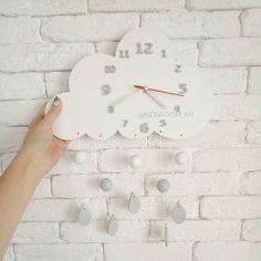 Як вам така хмаринка?  Можна виконати в будь-якому іншому кольорі   #годинник #дитяча #декориздерева #декордлядитячої