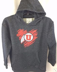 New University of Utah Utes Black Sparkle Sweatshirt Youth Size Large Hoodie NWT #Jamerica #UniversityofUtah