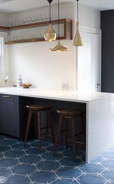 bright designlab project featuring Popham design HEX DOT  handmade cement tiles.