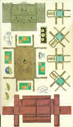 follow link to a doll house and furniture all made out of paper