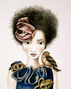 illustrations by claudia tremblay African American Art, African Art, Natural Hair Art, Natural Hair Styles, Art Afro Au Naturel, Illustrations, Illustration Art, Claudia Tremblay, Art Visage