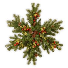 """National Tree Co. Snowflake with 35 Battery Operated LED Lights Size: 32"""" H x 27.5"""" W x 4""""D"""