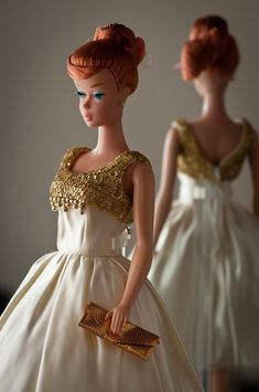 """Titan Swirl Barbie, 1964 (Vintage Repro)"" by bridgetfleming • She is my new favorite doll... She is wearing 'J'Adore L'Or' by Dressmaker 