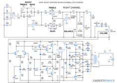 15Watts Stereo Amplifier Circuit | Electrical & Electronics Concepts ...